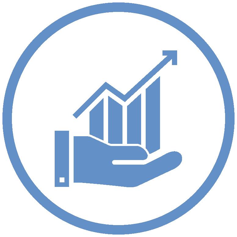 SkillsInSight-Icon Hand holding accelerating Graph